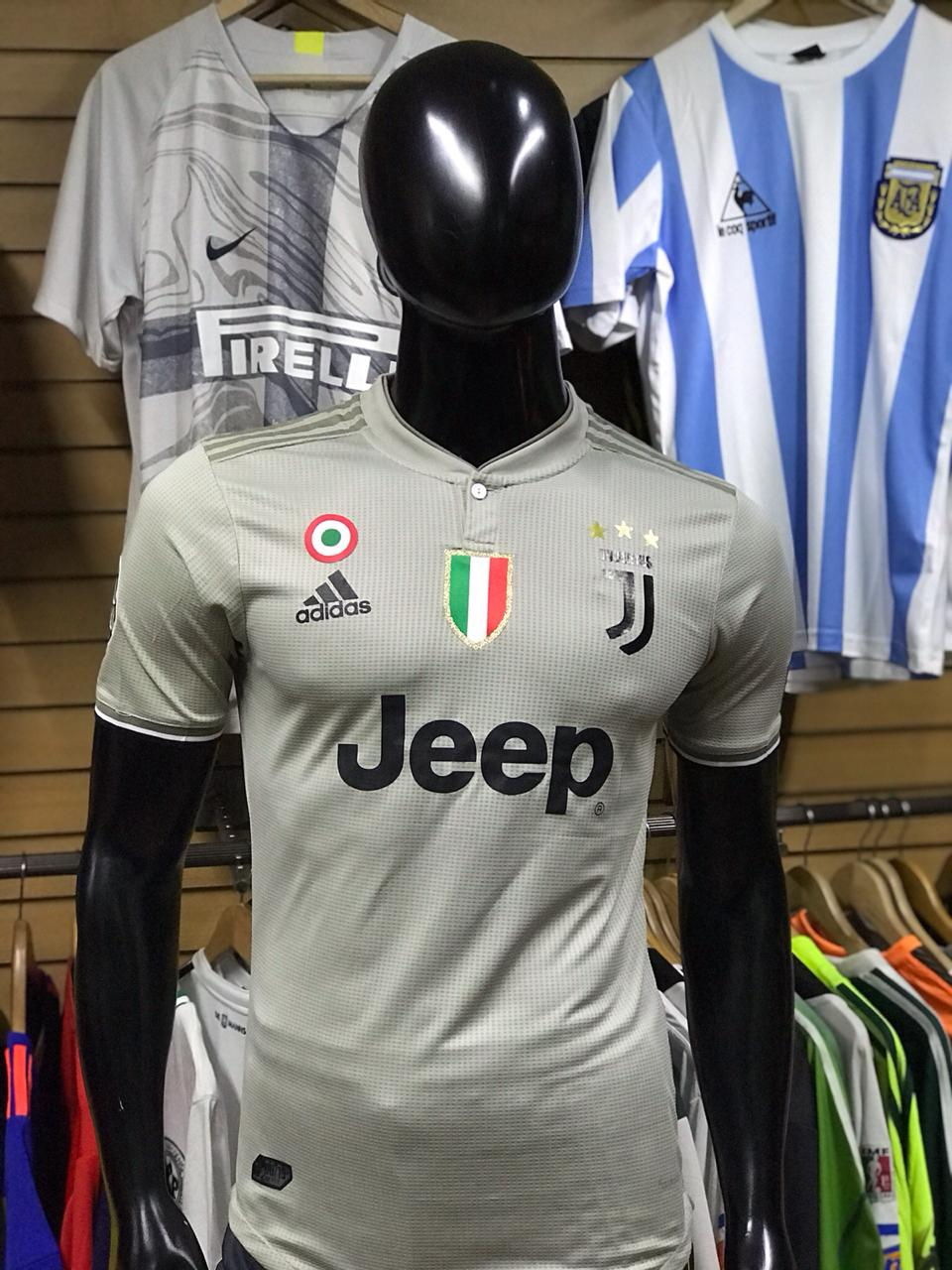 Camiseta Juventus Alternativa Gris Versión Jugador 2018-2019 ... 72ecfdf9017ea