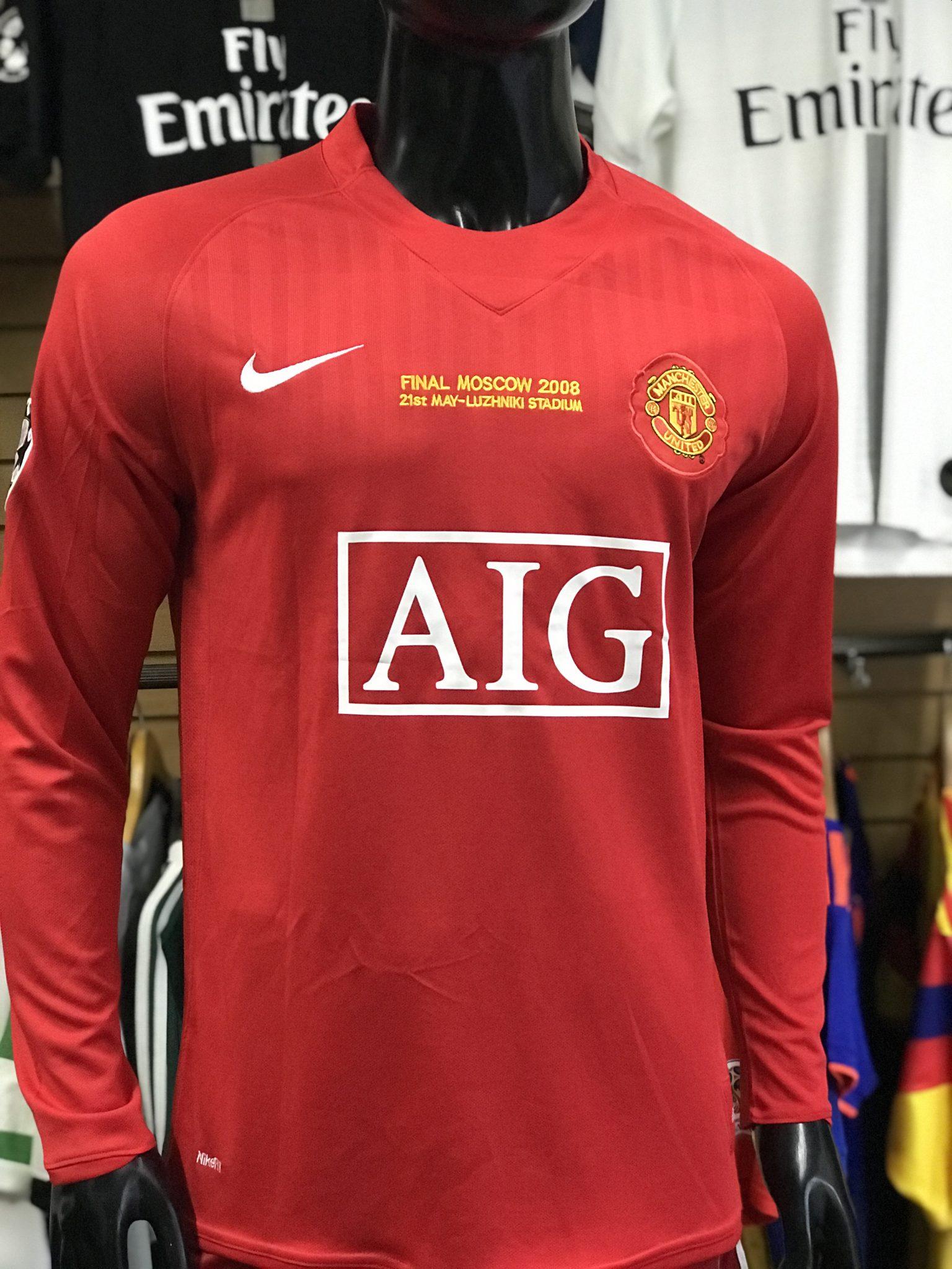 e3dfd8477 Camiseta Manga Larga Manchester United 2007-2008 Cristiano Ronaldo ...