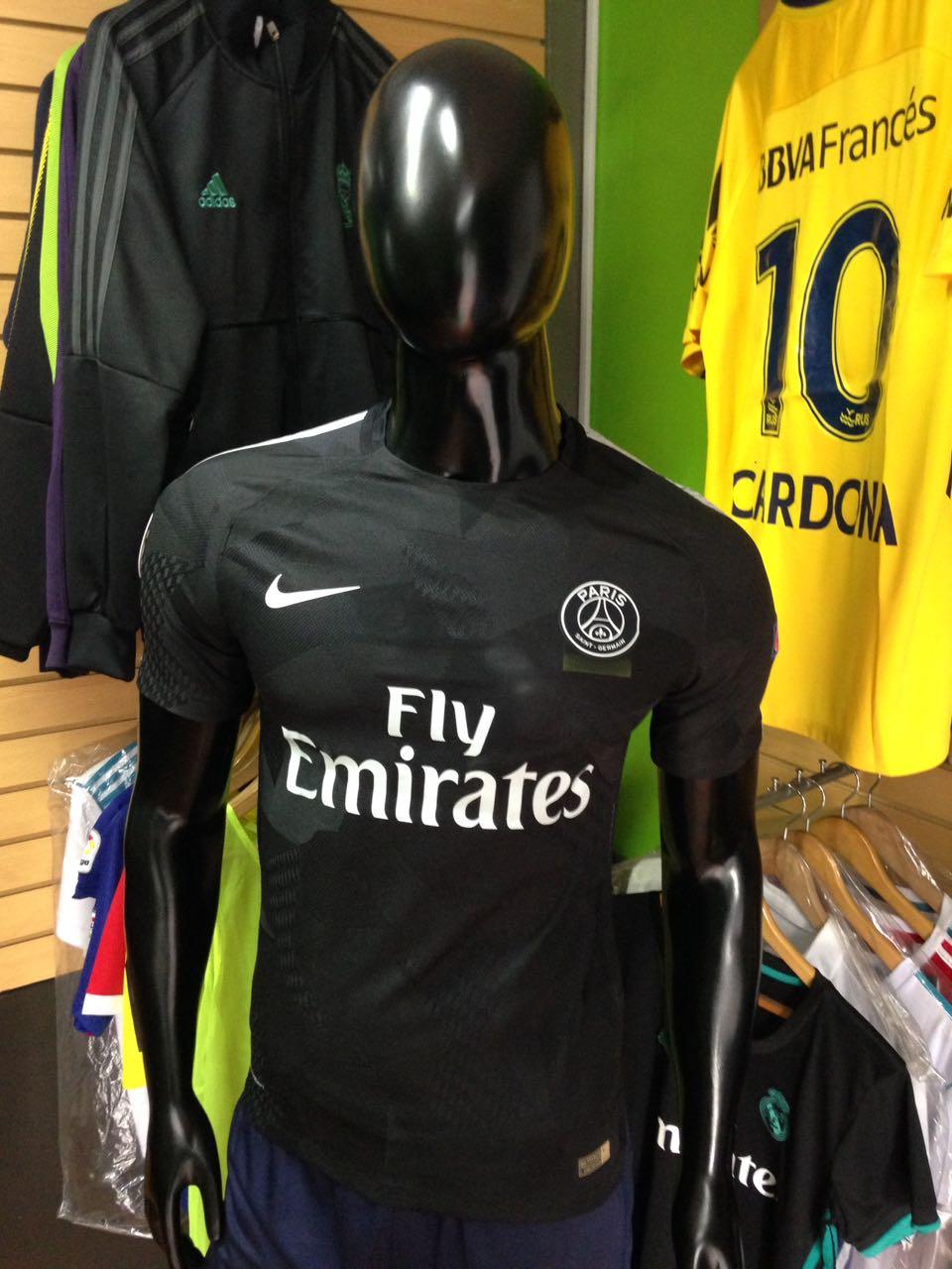 89abe10c7bb72 Camiseta Paris Saint Germain Alternativa Negra 2017-2018 - Fútbol de Primera