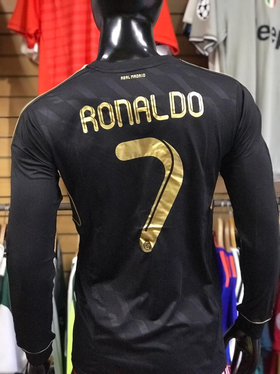 Camiseta Retro Negra Real Madrid - Fútbol de Primera d1b12d2631e9d
